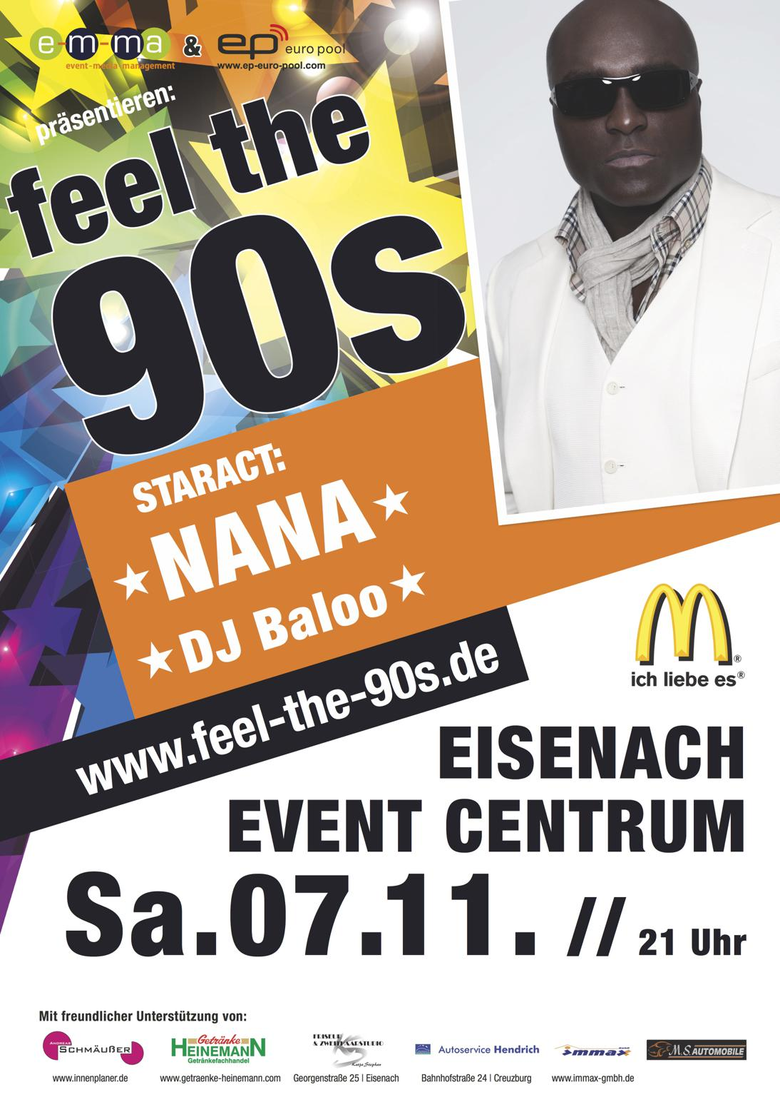 FEEL THE 90s - Star-Act: NANA Darkman & DJ BALOO - Thüringens größte ...